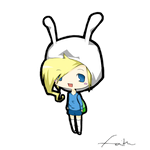 Fionna The Human (chibi) by Cake4444