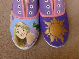 tangled shoes by foreverwonderstruck