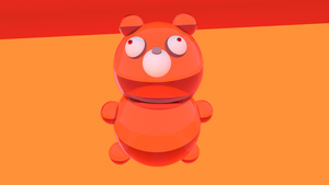 Full Body - Gummy Bear - Blender - 3D modeling by lyssagal