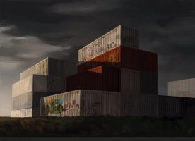 Container Landscape 2 by MorgonTupp