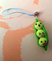 Kawaii Polymer Clay Green Peas by summerRhapsody