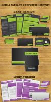 Free Simple Corporate Identity by UniqueCreativity