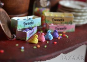 Marshmallow Chicks - Tweets - Update by TheMiniatureBazaar