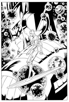Silver surfer comission by johnsonverse