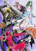 Ultimate Marvel VS Capcom: K's choices by hewhowalksdeath