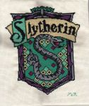 Slytherin Crest Cross Stitch by JealaTriumph
