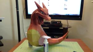 Pokemon Charizard Papercraft Commission 1 by devastator006