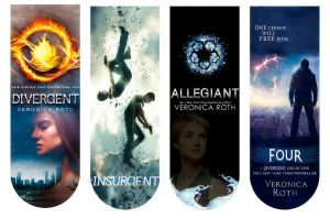 Divergent Book Covers Bookmarkers by angiezinha
