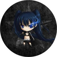 Black Rock Shooter Button by linlilian