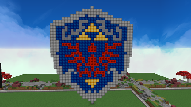 Hylian shield in the present. by Strkiller16