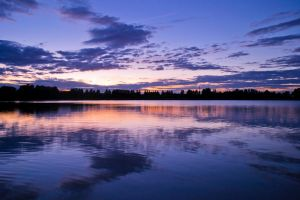 Sunset on Manley Mere Lake by Emilymeganx