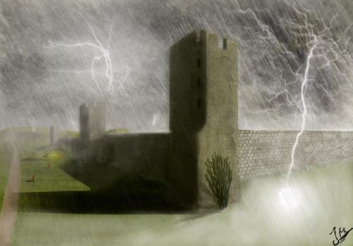 Lightning storm over Visby by Gruckel