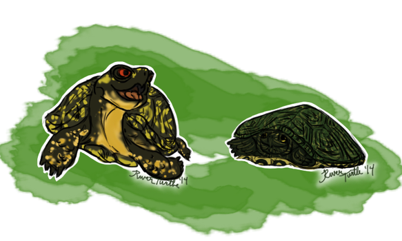 New Years Turtles by riverTurtle790