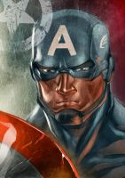 Captain America quickie by BrianFajardo