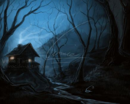 In the woods, Speed painting by VinRoc