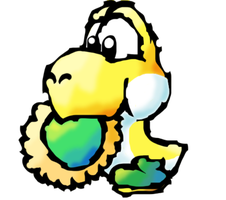 Little yellow Yoshi by koshechkazlatovlaska