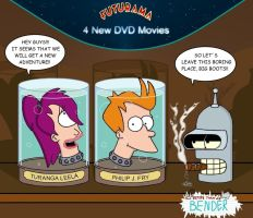 Futurama - 4 New DVD Movies by Parallel-ATR