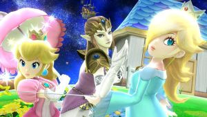 Princess Peach, Zelda, and Rosalina by Rosalina-Luma