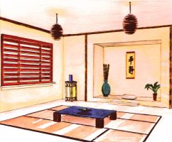 Japanese Living Room by trishaa08