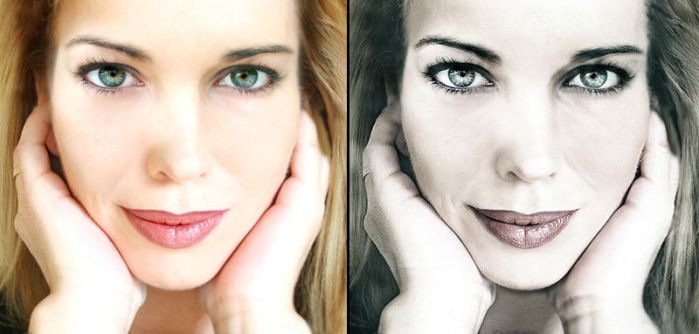 Woman Portrait - Before.After by Monnario
