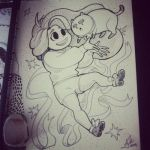 Inktober Day Fourteen: Bee and Puppycat! by Jackie-M-Illustrator