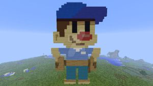 Fix-It Felix Jr. (character) in Minecraft by superslinger2007
