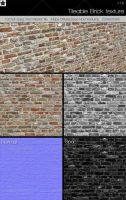 Tileable Brick texture 1 V1.2 by HollowIchigoBanki