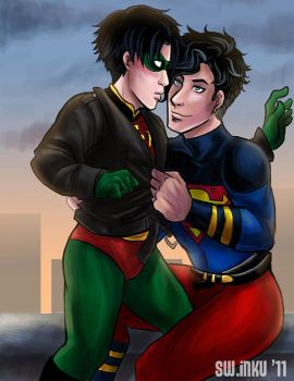 yet more superboy Robin by sw