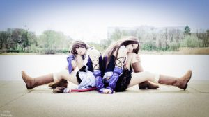Yuna and Lenne Final Fantasy X-2 by memoire-hana