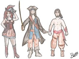 Pirate Characters Development by Tebyx