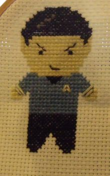 Spock Cross Stitch p1 by Space-treking
