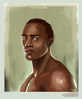 Young man portrait painting by eydii