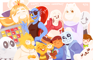 Happy 1st Year Anniversary Undertale! by CubedCake