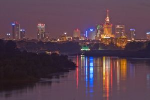Warsaw and Vistula by Dunadan-from-Bag-End