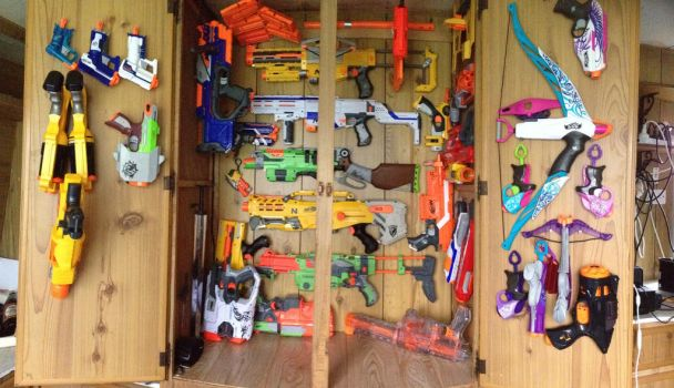 My Nerf Collection As Of 5-11-2015 by arbiter7734
