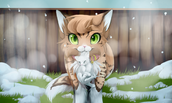 Take Care of Him, Fireheart REDRAW by Skitea