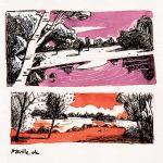 ink landscapes by Iraville