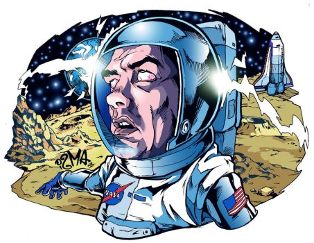 Man in the moon by ismaComics