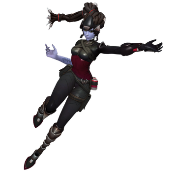 Widowmaker Noire Slinging Pose Pack by PwN3Rship