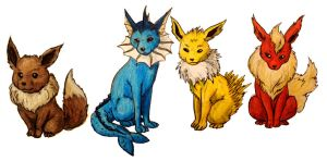 Eeveelutions by Mbecks14