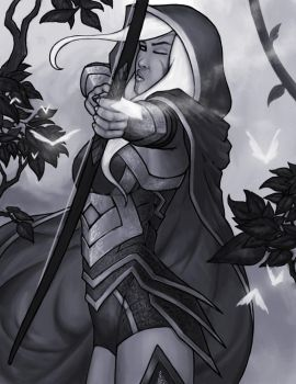 Drow Ranger by vnbenedicto