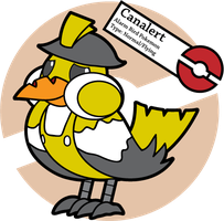 Fake Pokemon: Canalert by Sageroot