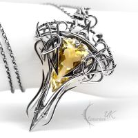 CTHAR NOCTRA - Silver, Yellow Quartz and Citrine. by LUNARIEEN