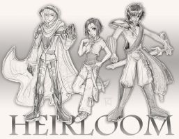 HEIRLOOM characters by Kuthinks