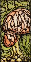 fungi in stained glass print by MyRevelations