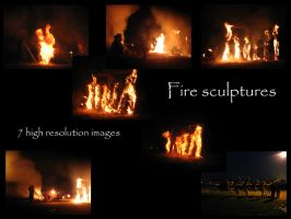 Fire sculptures 1 by Mithgariel-stock