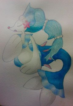 Primarina Watercolor Painting by KasumiDraws