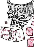 SKULL AND DICE by hotsnowman