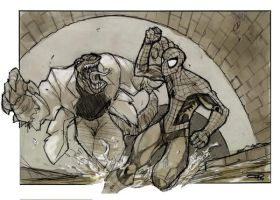 Spiderman VS Lizard by DenisM79