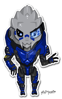 Mass Effect Chibis: Garrus by Missi-Moonshine